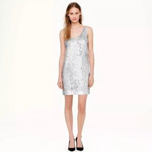 J Crew Collection Cate sequin silk dress 00